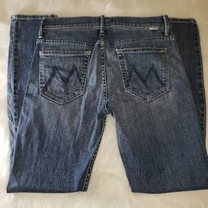 MOTHER THE MUSE Ankle Hooked Destroyed Jeans Sz 28